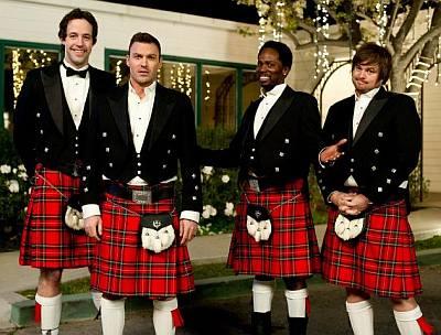 celebrities wearing kilt - wedding band actors