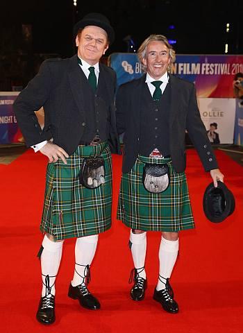 celebrities wearing kilts - john c reilly and steve coogan
