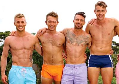 harry jowsey speedo heartbreak island with joshua frankauser izaak ryan and josh connolly
