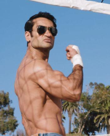 Kumail Nanjiani bulging biceps