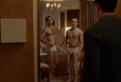 classic mens underwear - rory calhoun played by samuel walker and tank meyers