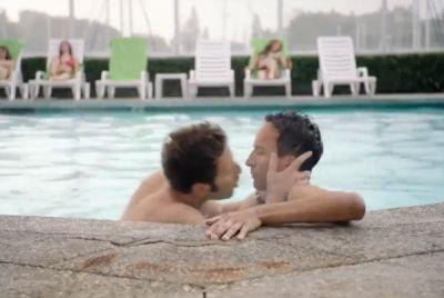 danny pudi Mark Feuerstein gay kiss2
