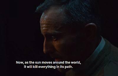 into the night will the sun kill us - solar reversal - netflix