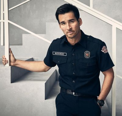 jay hayden hot uniform - travis montgomery in station 19