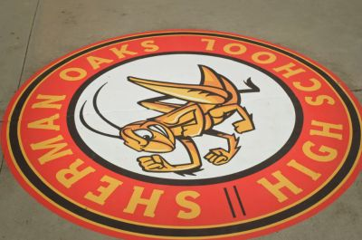 sherman oaks high school logo - fighting cricket2