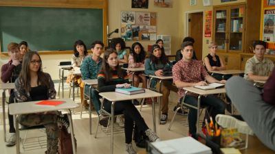 sherman oaks high school never have i ever - classroom