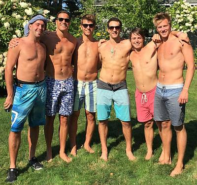 will reeve shirtless - instagram willreeve_ - with pals