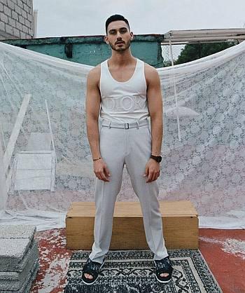 Alejandro Speitzer hot men in tank top shirts