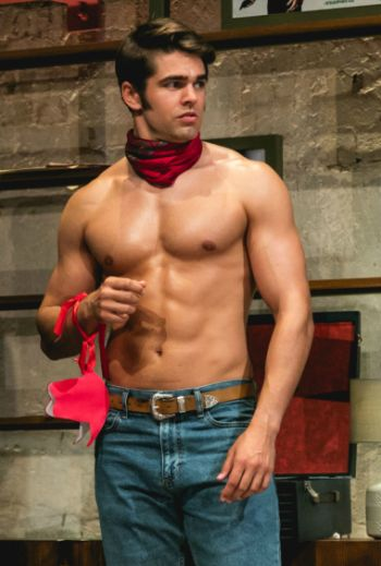 Jack Derges shirtless in jeans