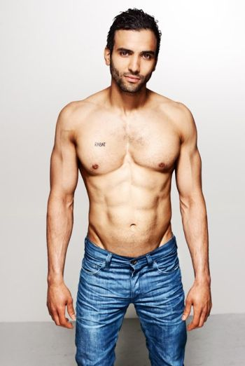 Marwan Kenzari shirtless in jeans