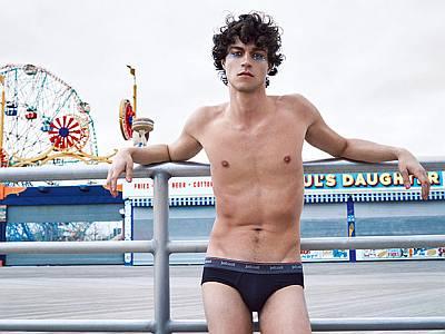 Miles McMillan underwear just cavalli fall winter 2016 campaign