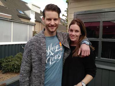 Raymon van der Biezen girlfriend Jessica de Groot