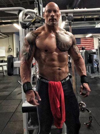 beefy muscle hunks - dwayne johnson
