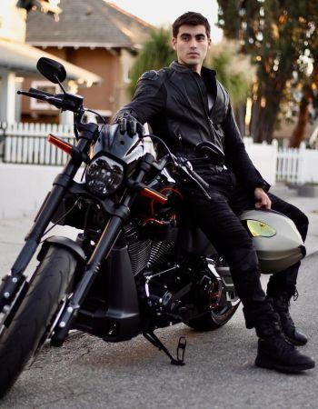 blake michael leather jacket harley davidson
