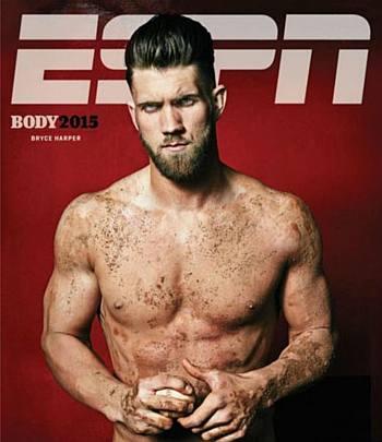 bryce harper shirtless body issue espn