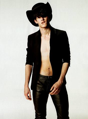 callum turner leather pants by emporio armani