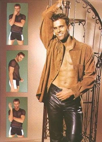 cameron mathison leather pants