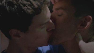 celebrity gay kiss Brian J Smith and Benjamin Walker