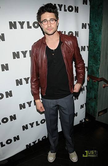 celebrity leather jacket - matt dallas brown leather
