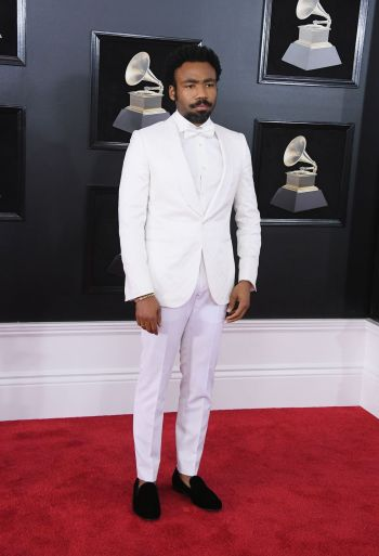 celebrity white suits - donald glover