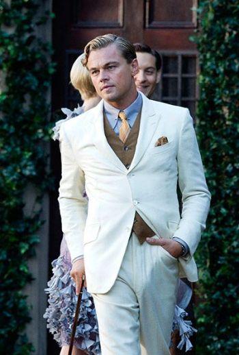 celebrity white suits men - leonardo di caprio in great gatsby