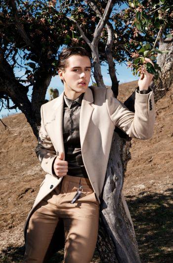 charlie gillespie hot fashion - long coat