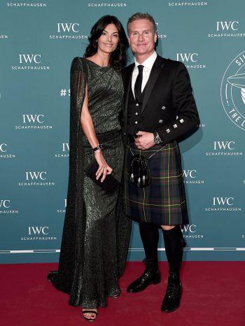 david coulthard brand ambassador - iwc with wife karen minier
