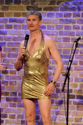 david coulthard hot in little gold dress - wings for life charity event