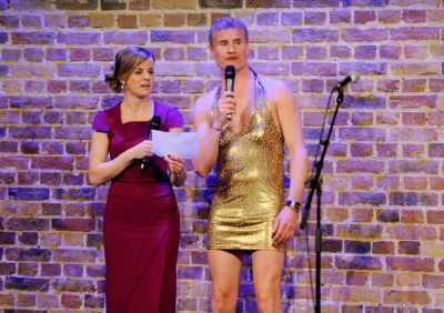 david coulthard hot in little gold dress