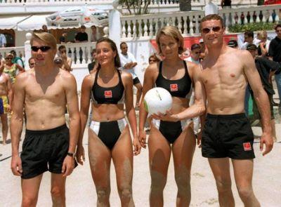 david coulthard shirtless - with mika hakkinen