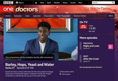 dex lee doctors tv debut