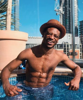 dex lee shirtless body in boxer shorts underwear