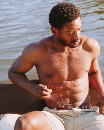 dex lee shirtless hot abs