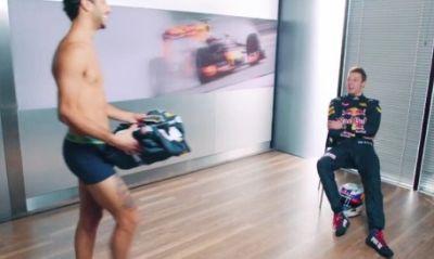 f1 drivers underwear - daniel ricciardo - boxer briefs