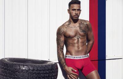 formula 1 drivers underwear - lewis hamilton in tommy hilfiger
