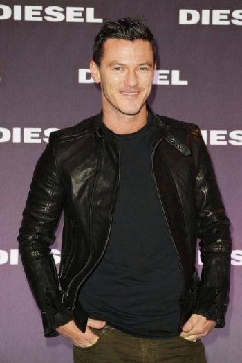 gay leather jacket celebrity fashion - luke evans
