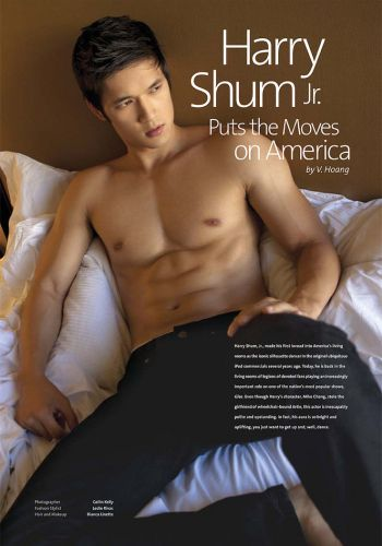harry shum body hot shirtless abs