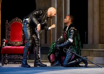 hot men in leather pants - Corey Stoll and Motell Foster