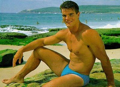 ian roberts speedo hunk rugby player
