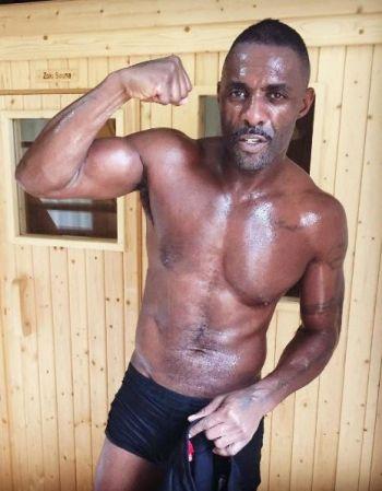 idris elba underwear after workout