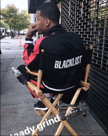 j alphonse nicholson on set of blacklist