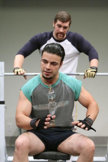 james martinez sexy gym bro in back3x broadway stage play
