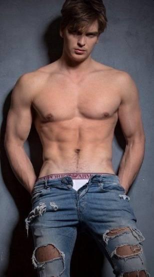 mens jeans unzipped - giorgio armani