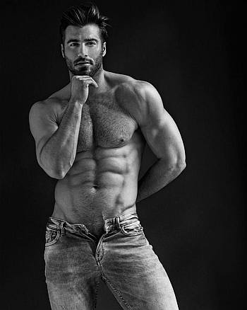 mens jeans unzipped washboard abs