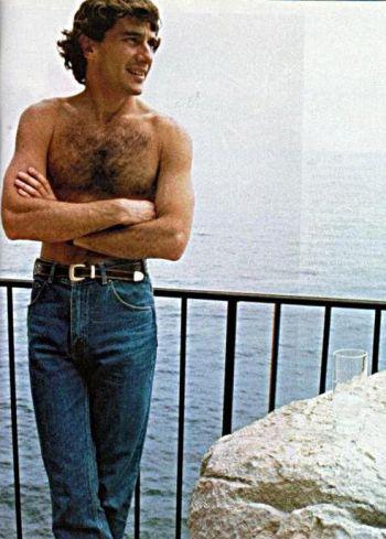 shirtless f1 drivers vintage Ayrton Senna2