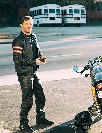 hot men in leather pants tom hardy