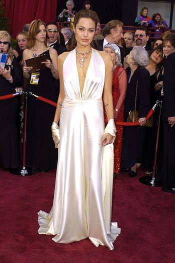 Celebrity White Dress - angelina jolie red carpet gown