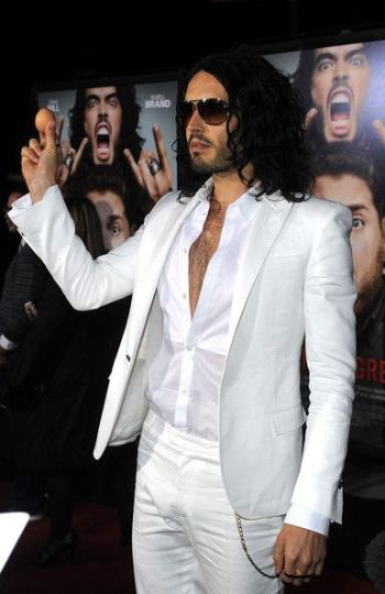 white suits for men - russel brand