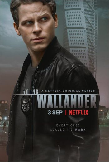 Adam Pålsson young wallander leather jacket