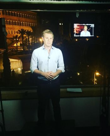 Alexander Marquardt reporting on site in beirut